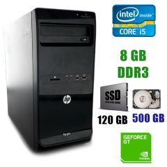 HP Pro 3400 MT / Intel Core i5-2400 (4 ядра по 3.1-3.4GHz) / 8GB DDR3 / 120GB SSD+500GB HDD / GeForce GT 1030 2GB GDDR5