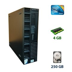 Dell OptiPlex XE SFF / Intel Core 2 Duo E8400 (2 ядра по 3.0 GHz) / 4 GB DDR3 / 250 GB HDD