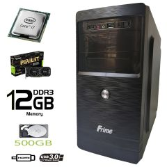 Frime ATX / Intel Core i7-3770 (4(8) ядер по 3.4-3.9GHz) / 12 GB DDR3 / 500 GB HDD / Palit GeForce GTX 1050 Ti 4 GB GDDR5 (HDMI, DVI, DP) / FSP 400W / USB 3.0