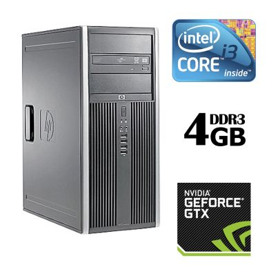 HP Compaq 8100 Elite Tower / Intel® Core™ i3-530 (2 (4) ядра по 2.93 GHz) / 4GB DDR3 / 320GB HDD / nVidia GeForce GTX 550 Ti 1GB (2xDVI, miniHDMI)