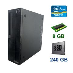 Lenovo ThinkCentre M83 SFF / Intel Core i5-4440 (4 ядра по 3.1 - 3.3 GHz) / 8 GB DDR3 / 240 GB SSD / AMD Radeon HD 7500, 1 GB GDDR5, 128-bit