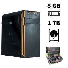 Frontier HAN SOLO orange MT / AMD Athlon™ II X4 840 (4 ядра по 3.1 - 3.8 GHz) / 8 GB DDR3 / 1 TB HDD / nVidia GeForce GTX 1050 Ti (4 GB 128-bit GDDR5) / 500W