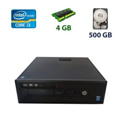 HP ProDesk 600 G1 SFF / Intel Core i3-4130 (2 (4) ядра по 3.4 GHz) / 4 GB DDR3 / 500 GB HDD / DVD-RW