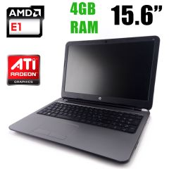 HP 255 G3 / 15.6 / AMD E1-2100 (2 ядра по 1GHz) / 4GB DDR3 / 120GB SSD / HDMI, WebCamera