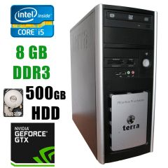 Terra PC / Intel® Core™ i5-750 (4 ядра по 2.66 - 3.20GHz) / 8GB DDR3 / 500GB HDD / GeForce GTX750 2GB / DVD-RW
