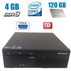 Wi-Fi В ПОДАРОК! Lenovo M58p SFF / Intel Core 2 Duo E8400 (2 ядра по 3.0 GHz) / 4 GB DDR3 / 120 GB SSD NEW / Windows 7 Pro licence