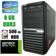 Acer M490G Tower / Intel® Core™ i7-860 (4(8)ядра по 2.80 - 3.46GHz) / 8GB DDR3 / 500GB HDD / GeForce GTX 750 Ti 2GB DDR5