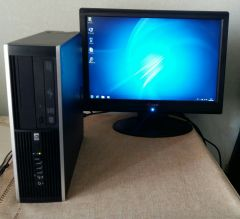 HP 8000 Ellite SFF / Intel Core 2 Quad Q9400 (4 ядра по 2.66GHz) / 6GB DDR3 / 250GB HDD / DVD-RW + монитор / 19' / 1600x900