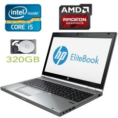 HP ELITEBOOK 8570P / 15.6' / Intel Core i5-3320M (2(4) ядра по 2.6-3.3GHz) / 4GB RAM / 320GB HDD / Radeon HD 7500M/7600M