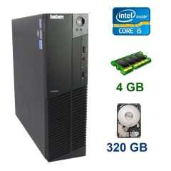 Lenovo ThinkCentre M92p SFF / Intel Core i5-3470 (4 ядра по 3.2 - 3.6 GHz) / 4 GB DDR3 / 320 GB HDD